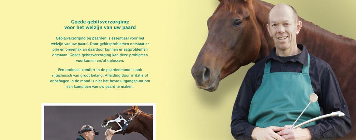 Website voor een vakman ´n een paardenliefhebber